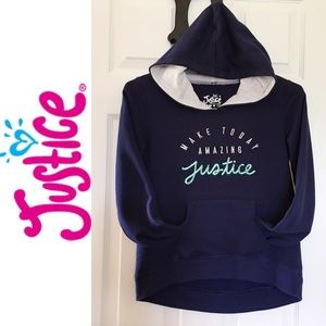 🌸Justice🌸Girls Navy Blue Sequin Hoodie